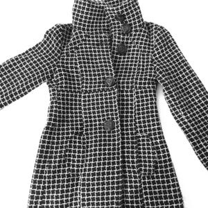 Zara TRF checkered coat, S